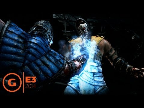 Mortal Kombat X Sub-Zero vs Scorpion Gameplay - E3 2014