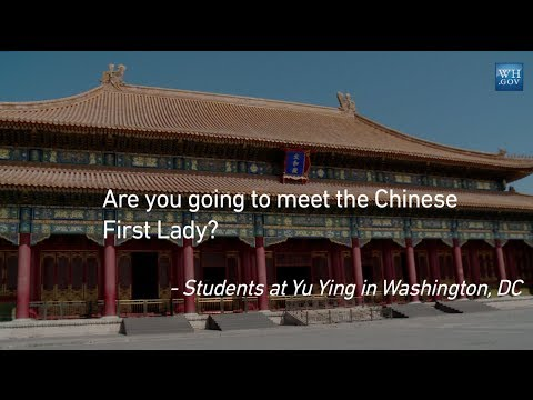 First Lady Michelle Obama Answers Your Questions From China: Will you meet the Chinese First Lady?