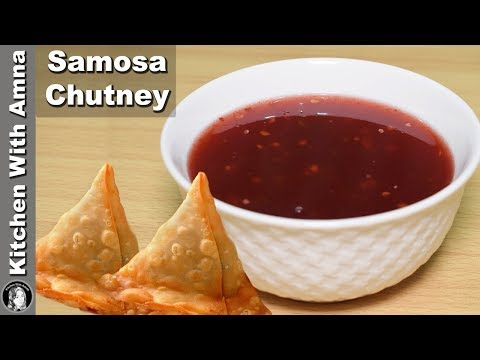 Samosa Chutney Recipe - Ramadan Recipes For Iftar - Kitchen With Amna
