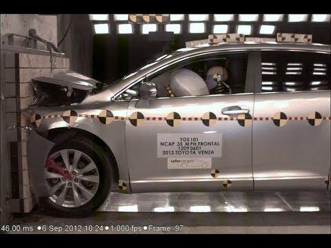 Toyota Venza | 2013 | фронтальный краш-тест | NHTSA High Speed Camera