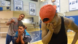 CHALLENGING AN NBA PLAYER GONE WRONG!! LOSER SHAVES THEIR HEAD!! 3 PT CONTEST VLOG