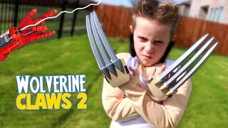 Wolverine Claws (LOGAN Edition) Super Hero Gear Test & Toys Review for Kids!