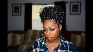 BRAIDLESS CROCHET High Puff W/ Rubberband Parts | Jamaican Bounce Hair