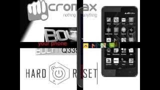 Micromax Bolt Q335 | HARD RESET | PATTREN UNLOCK