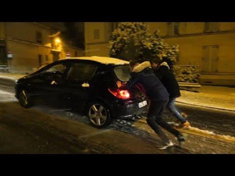 Neige: nuit de galère en Ile-de-France