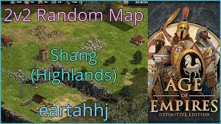 Age of Empires: Definitive Edition - FFA 4 players RM Shang Highlands - eartahhj - 03/07/2019