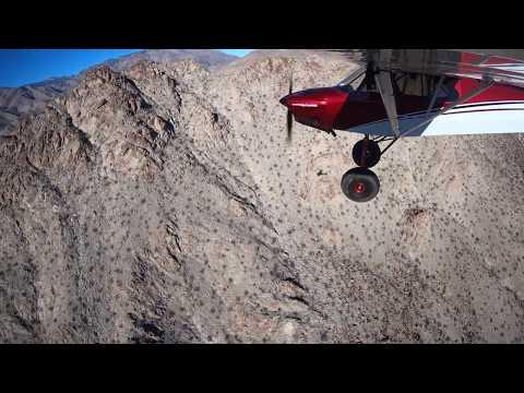 Flying Agua Alta Canyon in California