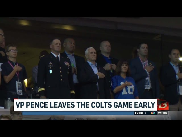Fans react to VP Pence leaving Colts game early