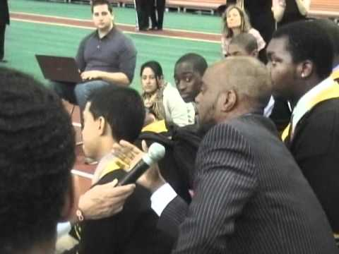 Andre Berto Speak's To Kids From Rice High School NY About Obesity