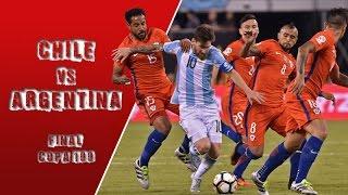 Chile 0 (4) - (2) 0 Argentina   Final Copa América Centenario
