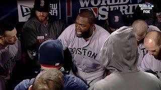 Papi rallies his teammates in dugout