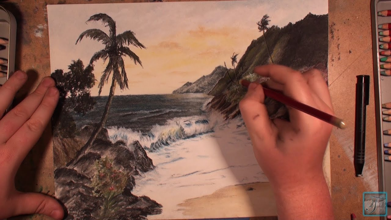 Best Sunset Drawings How to Draw a Hawaiian Sunset
