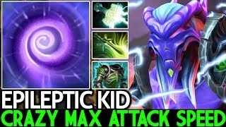 EPILEPTIC KID [Faceless Void] Crazy Max Attack Speed Top Pro Carry 7.22 Dota 2