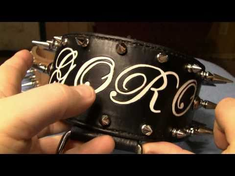 The Nicest Custom Made Leather Dog Collars That I Have Ever Seen!!