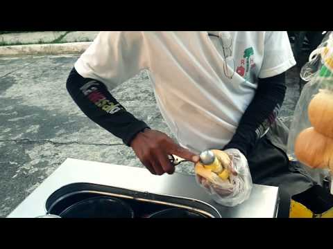 Manila Philippines Street Food (sandwich ice cream)