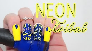 Hand Painted Tribal Nail Art Tutorial