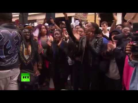 Black Lives Matter activists hold solidarity rally in London