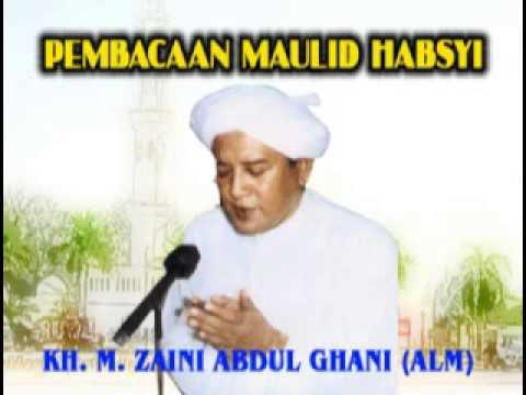 Pembacaan Maulid Habsyi oleh guru Sekumpul KH. M. Zaini Abdul Ghani (Alm)