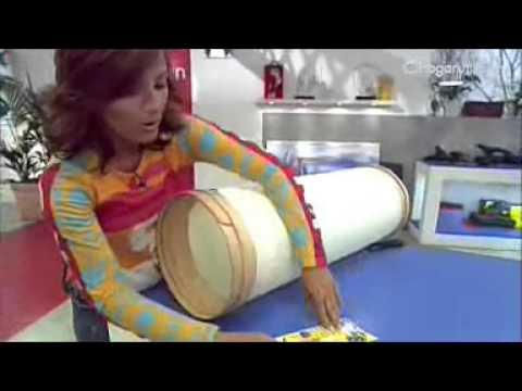 L mpara de papel pergamino youtube - Lamparas de pie de papel ...
