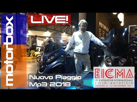 Nuovo Piaggio MP3 2018 | Live EICMA 2017