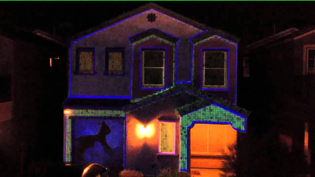 Christmas House Projection Video - YouTube