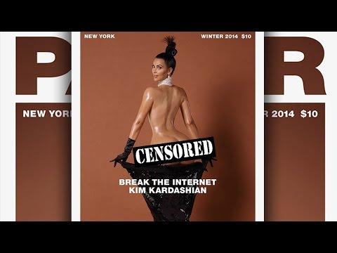 Kim Kardashian NUDE BUTT Paper Magazine Cover