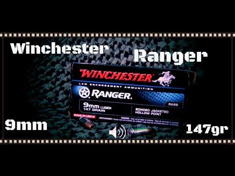 Winchester Ranger Bonded 9mm Winchester Ranger 9mm 147gr