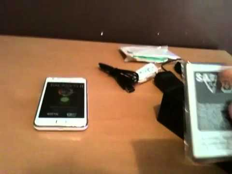 White Samsung Galaxy s2 unboxing