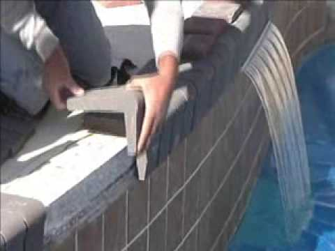 Pool Coping On Concrete Using Mason Bond Masonry Adhesive