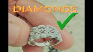 i found SUPER BIG DIAMOND RING metal detecting