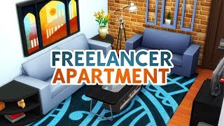 FREELANCER APARTMENT // Sims 4 Speed Build