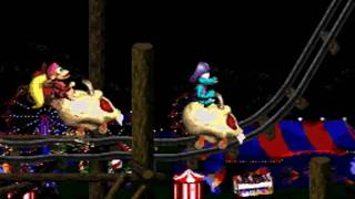 Donkey Kong Country 2 102% Walkthrough : Krazy Kremland - Rickety Race