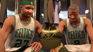 NBA 2K17 My Career - Warriors Swept! Celtics Banner 18! NFG4! PS4 Pro 4K