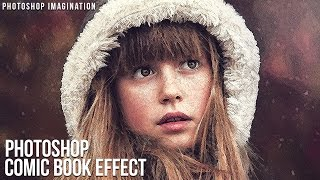 How to make a Comic Book Cartoon Effect in Photoshop Tutorial