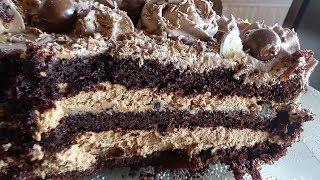 Шоколадный торт на раз, два, три. Самый вкусный торт.Самый простой рецепт.