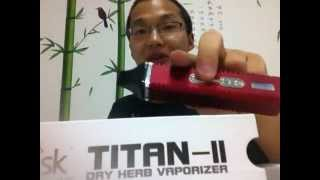Hebe Titan II dry herb vaporizer (Marijuana products) operative skills / instructions for use
