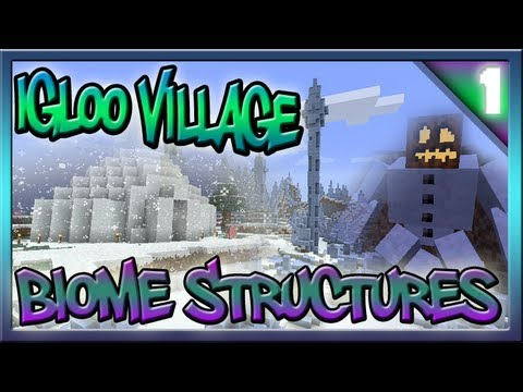 Minecraft 1.7 Ice Spike Villages Igloos Biome Structures Episode #1
