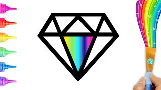 Coloring and  Drawing Diamond for Toddlers, Kids | Creative World