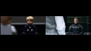 Captain America The Winter Soldier Lego Trailer Comparison