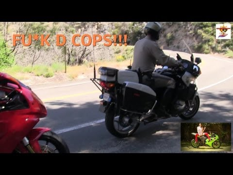 A DUCATI Motorcycle Speeder caught by a COP - Canyon CARVER!