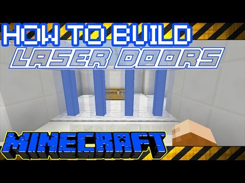 Minecraft   How To Build : A SIMPLE WORKING LASER DOOR