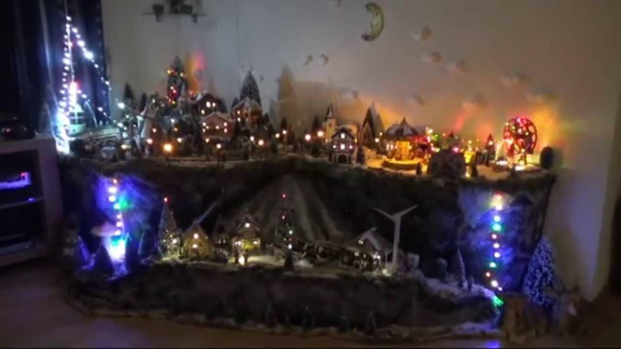 Kerstdorp 2013 laat u meeslepen in de wondere wereld van de verlichte dorpjes youtube - Basket thuis van de wereld ...