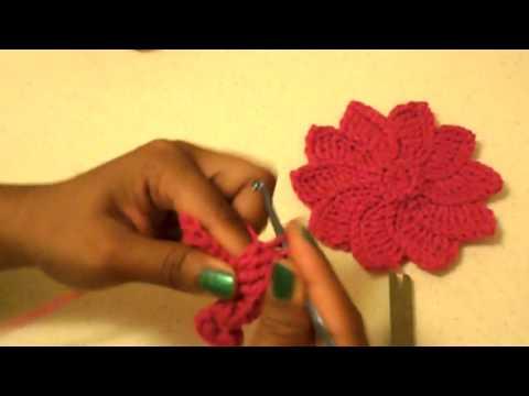 Flor de Pascua -Tutorial de tejido crochet