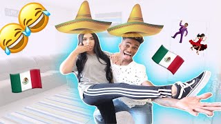 TEACHING MY BOYFRIEND HOW TO DANCE MEXICAN MUSIC!! (EXTREMELY FUNNY)