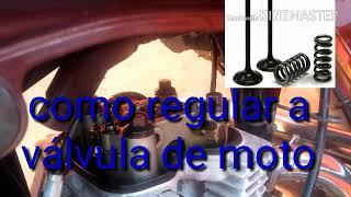 Como regular válvula de moto