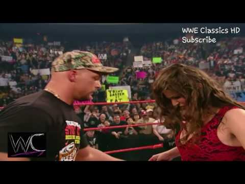WWE Stephanie Mcmahon Stripped by Stone Cold Steve Austin thumbnail