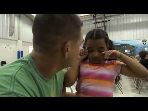 Soldier home from Afghanistan surprises 8 year old daughter!
