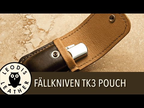 Making a Pigskin Lined Leather Pouch for a Fallkniven TK3 Pocket Knife (1h15m HD)