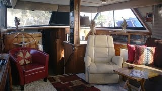 Carver 42 Aft Cabin Motor Yacht Interior Walk Thru Video @ South Mountain Yachts (949) 842-2344