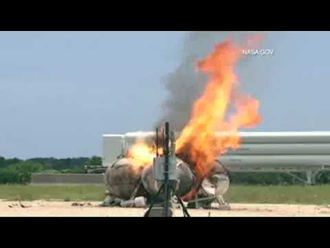 Nasa Morpheus rocket freeflight crash and explosion